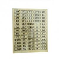 Planches numérotées